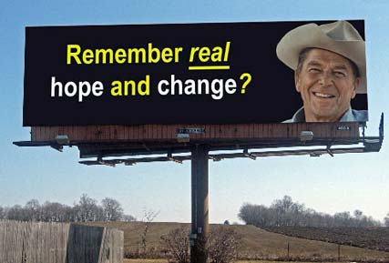 ronal reagan real hope and change